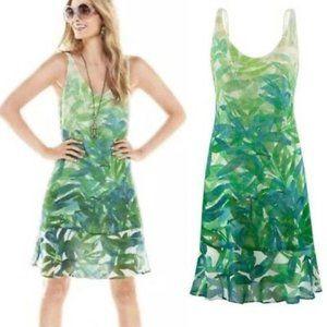 CAbi #5235 Green Tropical Castaway Dress S